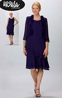 Ursula Short Mother of the Bride Dress 11192 with Jacket image