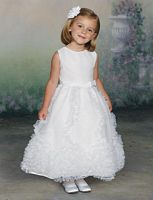 Size 6X White Joan Calabrese by Mon Cheri Flower Girls Dress 112314 image