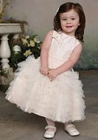 Size 2 Blush-Ivory Joan Calabrese by Mon Cheri Girls Dress 112332 image