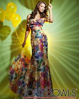 Tony Bowls Le Gala Print Taffeta Mermaid Prom Dress 112504 image