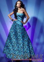 Tony Bowls Le Gala Turquoise Print Prom Dress 112507 image