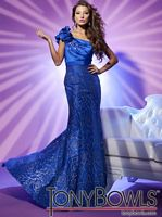 Tony Bowls Le Gala One Shoulder Ruffle Mermaid Prom Dress 112508 image
