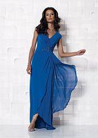 Cameron Blake Cap Sleeve Matte Jersey Evening Dress 112650 image
