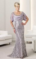 Montage by Mon Cheri Illusion Lace Mermaid Evening Gown 112909 image
