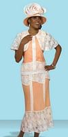 Donna Vinci 11298 Womens Linen and Lace Church Suit image