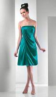 Short Strapless Bari Jay Bridesmaid Dress 113 image