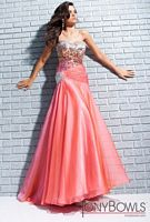 Size 6 Coral Tony Bowls Le Gala Sequin Party Gown 113511 image