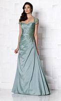 Size 14 Dark Aqua Cameron Blake 113603 Formal Dress image