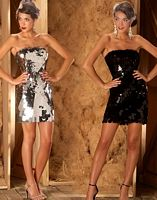 MacDuggal Couture Strapless Sequin Cocktail Dress 1144D image