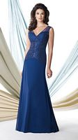 Montage 114909 Sleeveless MOB Gown with Shawl image