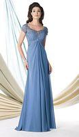 Size 12 Wedgwood Montage 114918 Short Sleeve Illusion MOB Dress image
