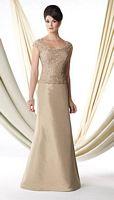 Ivonne D 114D41 Cap Sleeve Silk Taffeta Mothers Gown image