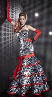 Dramatic Studio 17 Tiger Print Tiered Mermaid Evening Dress 12261 image