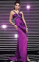 Studio 17 V Neck Strap Slim Flare Prom Dress 12272 image