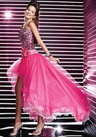 Studio 17 Sequin Tulle High Low Prom Dress 12274 image