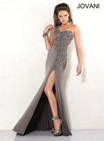 Jovani One Strap Jersey Long Dress 1285 image