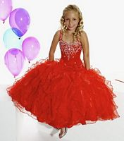 Size G6 Purple Tiffany Princess Girls Organza Pageant Dress 13267 image