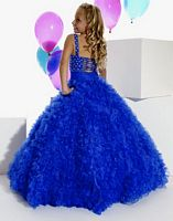 Size G6 Royal Tiffany Princess Girls Ruffle Pageant Dress 13269 image