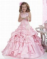 Tiffany Princess Halter Taffeta Girls Pageant Dress 13301 image