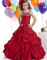 Tiffany Princess Taffeta Pickup Girls Pageant Dress 13302 image