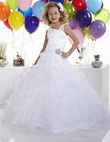 Tiffany Princess Girls Tiered Organza Pageant Dress 13303 image