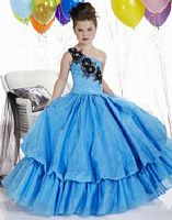 Tiffany Princess Girls Taffeta Bubble Pageant Dress 13304 image