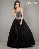 Jovani Ball Gown 1332 with Lace-Up Corset image