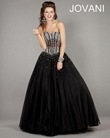 Jovani 1332 Lace Up Ball Gown image