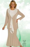 Misty Lane by Ben Marc Womens Church Suit with Drapes 13460 image