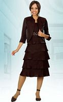 Ben Marc Misty Lane Tiered Evening Jacket Dress 13470 image