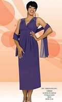 Misty Lane by BenMarc Tea Length Dress and Shawl 13514 image