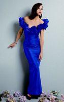 Jordan Couture Off the Shoulder Flower Long Bridesmaid Dress 1358 image