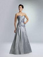 Rina Di Montella 1362 Silk Shantung Formal Gown with Sheer Bolero image