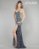 Jovani 1370 Lace-Up Back Formal Dress image