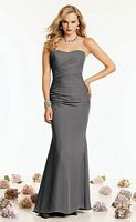 Jordan Couture Draped Chiffon Long Bridesmaid Dress 1402 image