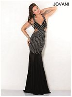 Jovani 1421 Evening Dress with Sheer Panels image