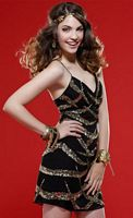 Scala Stunning Black and Gold Homecoming Cocktail Dress 14237 image