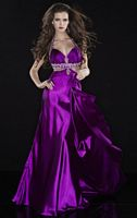 Panoply Beaded Halter Evening Dress with Cut-Out Sides 14415 image