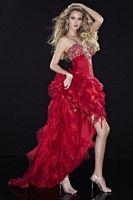 Panoply Organza Ruffle High-Low Evening Dress 14416 image