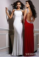 Sherri Hill Long Evening Dress with Beading and Low Back 1453 image