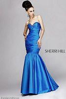 Sherri Hill Long Beaded Mermaid Prom Dress 1454 image