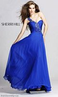 One Shoulder Prom Dresses 2012 Sherri Hill Long Prom Dress 1456 image