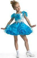 Perfect Angels 1459 Toddler Girls Organza Pageant Dress with Feathers image