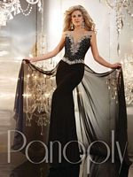 Size 6 Poppy Panoply 14641 Deep Illusion Sweetheart Gown image
