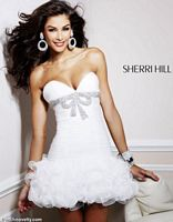 2012 Prom Dresses Sherri Hill Short Ruffle Prom Dress 1473 image