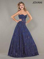 Jovani Floral Applique Formal Dress 14913 image