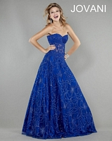 Jovani 14913 Formal Dress with Sheer Lace image