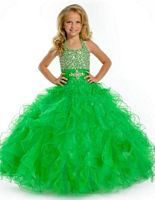 Party Time Perfect Angels 1501 Girls Halter Pageant Dress image