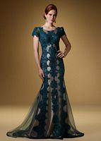 Rina di Montella 1501 Short Sleeve Lace Formal Dress image