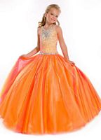 Party Time Perfect Angels 1504 Girls Beaded Pageant Dress image